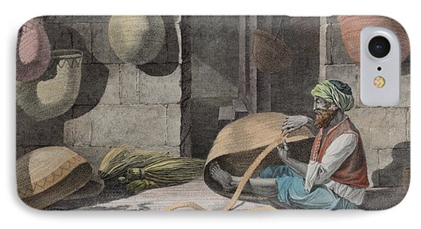 The Basket Maker, From Volume II Arts IPhone Case by Nicolas Jacques Conte