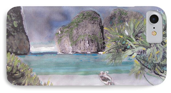 IPhone Case featuring the painting The Beach by Vikram Singh