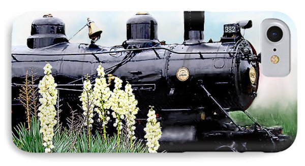 The Black Steam Engine IPhone Case by Bonnie Willis