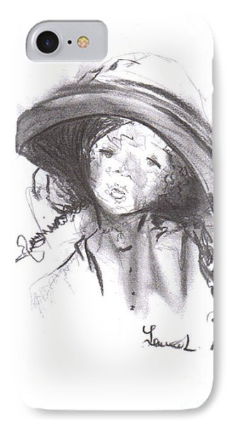 IPhone Case featuring the drawing The Bonnet by Laurie L