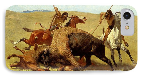 The Buffalo Hunt Phone Case by Frederic Remington