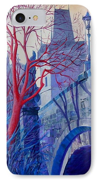 IPhone Case featuring the painting The Charles Bridge Blues by Marina Gnetetsky