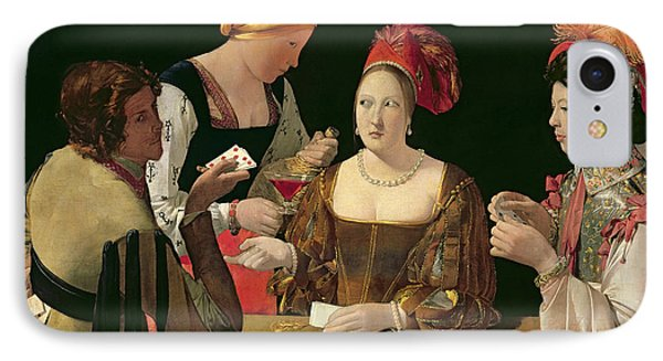 The Cheat With The Ace Of Diamonds IPhone Case by Georges de la Tour