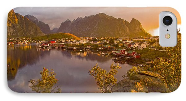 The Day Begins In Reine IPhone Case by Heiko Koehrer-Wagner
