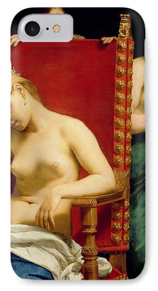 The Death Of Cleopatra  IPhone Case by Guido Cagnacci