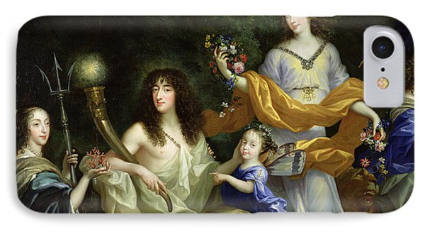 The Family Of Louis Xiv 1638-1715 1670 Oil On Canvas Detail Of 60094 IPhone Case by Jean Nocret