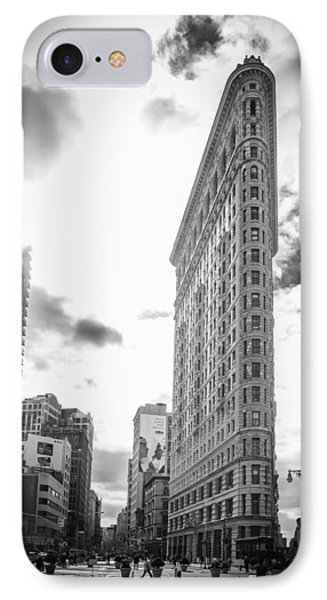 The Famous Flatiron Building - New York City IPhone Case by Erin Cadigan