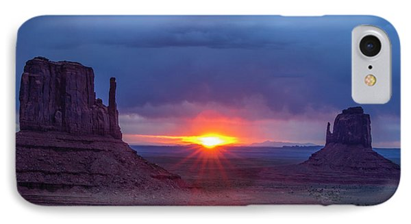 The Famous Red Rock Mittens In Monument IPhone Case by Jerry Ginsberg