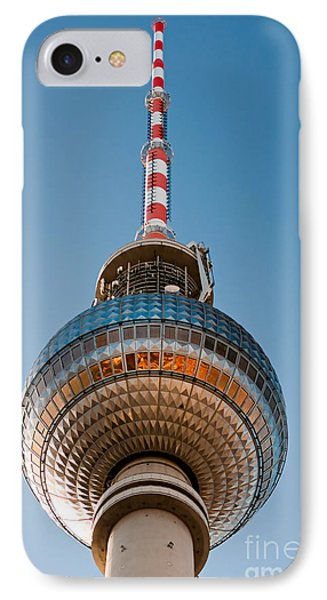 The Fernsehturm - Berlin IPhone Case by Luciano Mortula