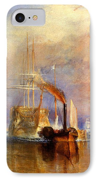 The Fighting Temeraire Tugged To Her Last Berth To Be Broken Up IPhone Case by J M W Turner