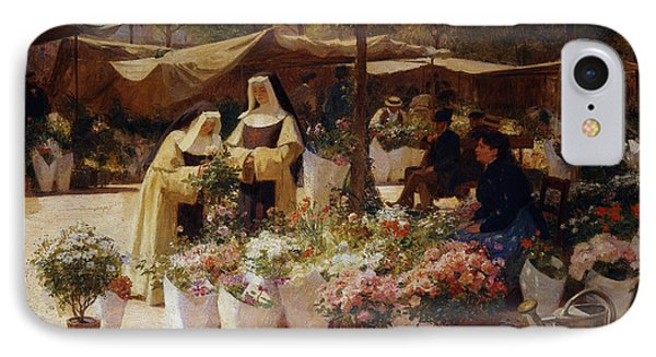The Flower Market IPhone Case by Victor Gabriel Gilbert