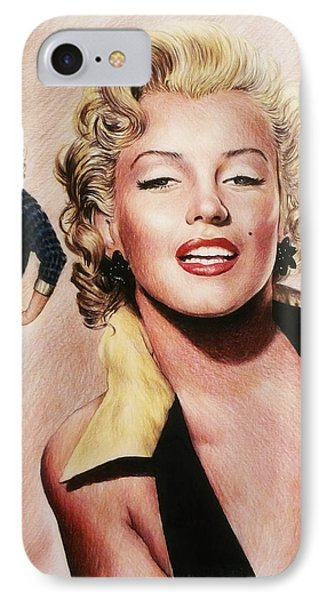 The Glamour Days Marilyn Monroe IPhone Case by Andrew Read