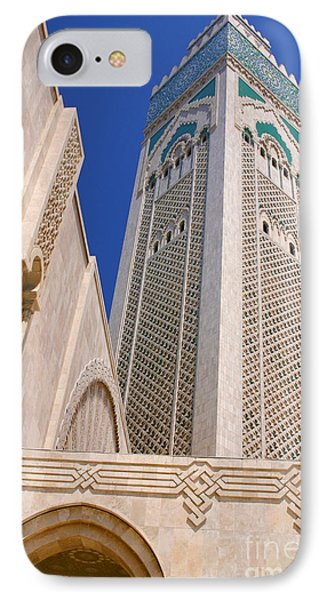 IPhone Case featuring the photograph The Hassan II Mosque Grand Mosque With The Worlds Tallest 210m Minaret Sour Jdid Casablanca Morocco by Ralph A  Ledergerber-Photography