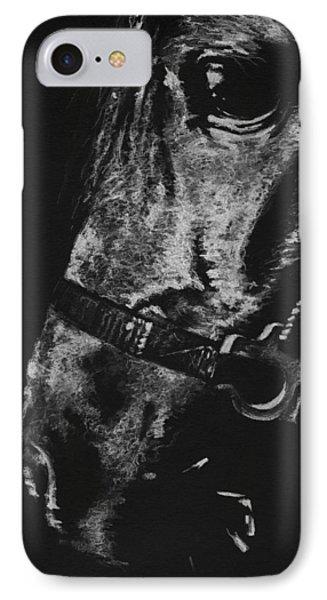 The Horse IPhone Case by Natasha Denger