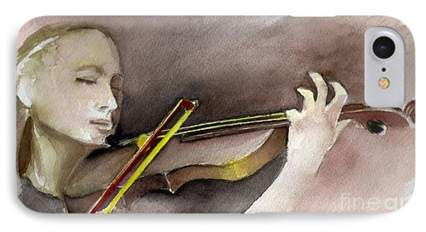 The Violin IPhone Case by Allison Ashton