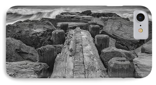 The Jetty In Black And White IPhone Case