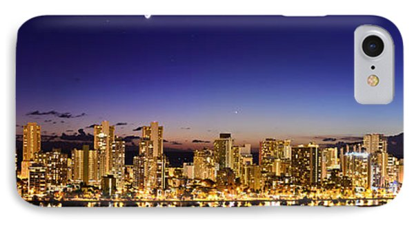 The Moon And Venus Over Honolulu IPhone Case
