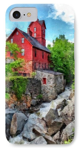 The Old Red Mill Jericho Vermont IPhone Case by Edward Fielding