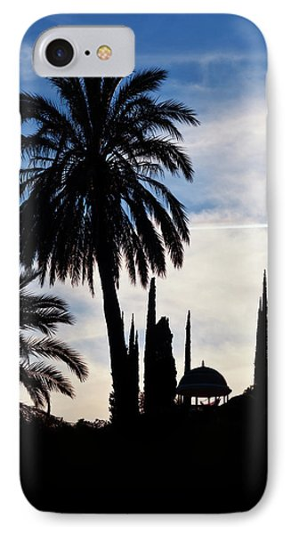 The Silhouetted Temple,botanical Garden IPhone Case by Panoramic Images