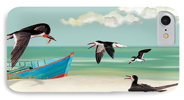 The Skimmers Of Margaritaville IPhone Case by Anne Beverley-Stamps