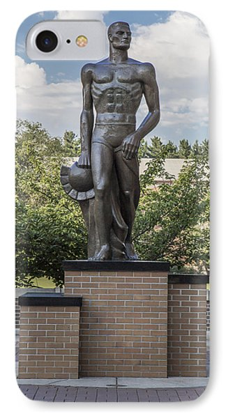 The Spartan Statue At Msu IPhone Case by John McGraw