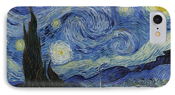 The Starry Night Phone Case by Vincent Van Gogh