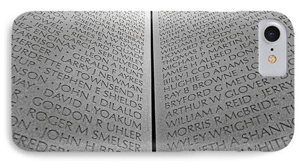 The Vietnam Memorial Wall IPhone Case