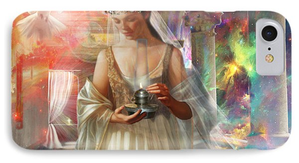 The Waiting Bride IPhone Case by Dolores Develde