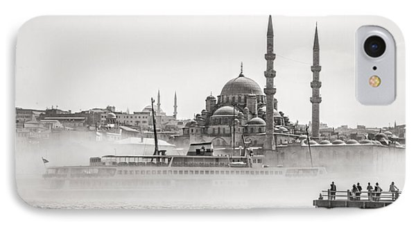 The Yeni Mosque In Fog IPhone Case by For Ninety One Days