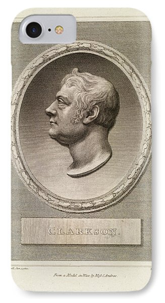 Thomas Clarkson IPhone Case by British Library