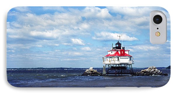 Thomas Point Shoal Lighthouse IPhone Case by Thomas R Fletcher