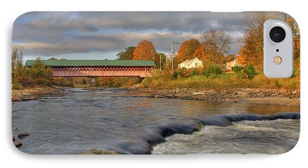 Thompson Covered Bridge 2 IPhone Case by Joann Vitali