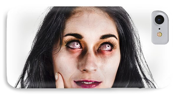 Thoughtful Zombie IPhone Case by Jorgo Photography - Wall Art Gallery