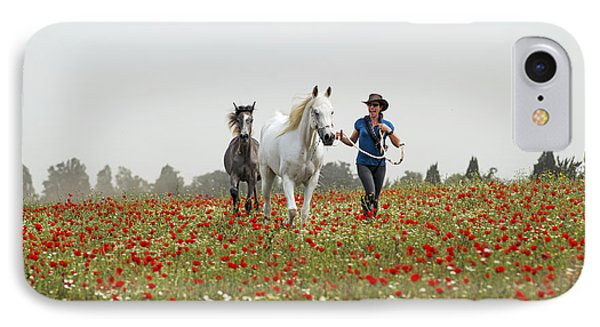 Three At The Poppies' Field... 3 IPhone 7 Case by Dubi Roman