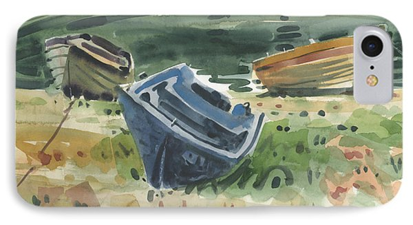 Three Boats Phone Case by Donald Maier