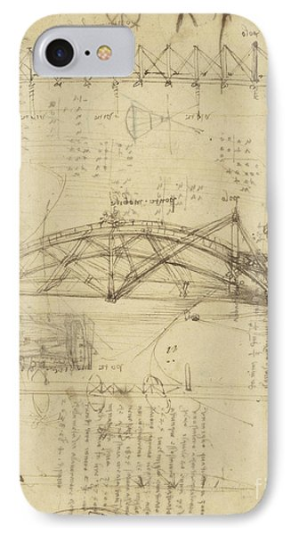 Three Kinds Of Movable Bridge Phone Case by Leonardo Da Vinci