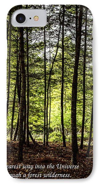 Thru The Trees With John Muir Quote IPhone Case