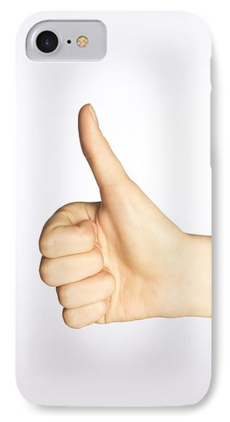Thumbs Up IPhone Case by Alan Marsh