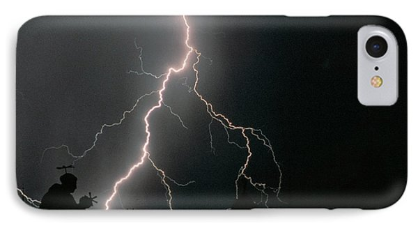 Thunder Storm In The Sky IPhone Case by Panoramic Images