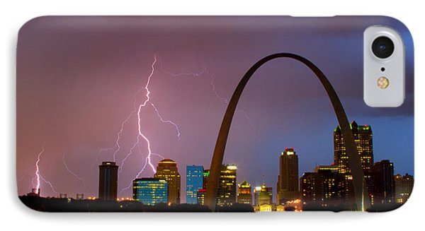 Thunderstorm Over St Louis IPhone Case by Garry McMichael