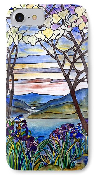 Stained Glass Tiffany Frank Memorial Window IPhone Case by Donna Walsh