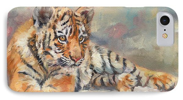 Tiger Cub IPhone Case by David Stribbling