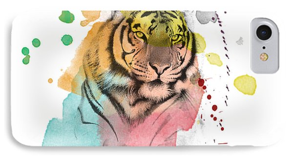 Tiger 12 IPhone Case by Mark Ashkenazi