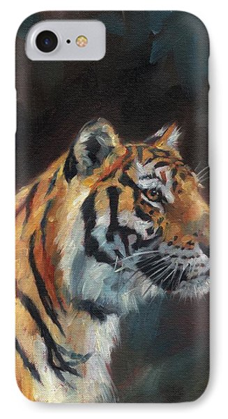 Tiger Portrait IPhone Case by David Stribbling
