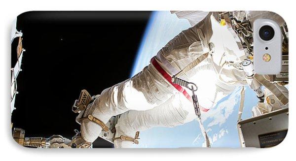 Emu iPhone 7 Case - Tim Kopra's Spacewalk by Nasa