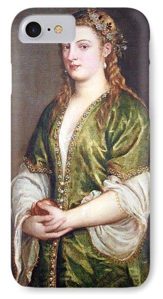 Titian's Portrait Of A Lady IPhone Case