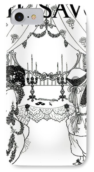 Title Page From The Savoy IPhone Case by Aubrey Beardsley