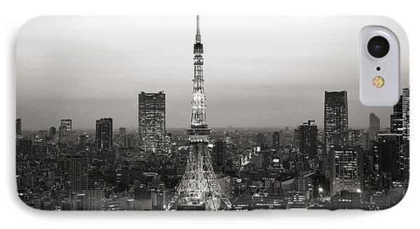 Tokyo Tower At Night IPhone Case by For Ninety One Days