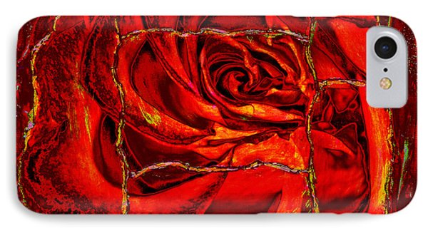 Torn Rose Phone Case by Pattie Calfy