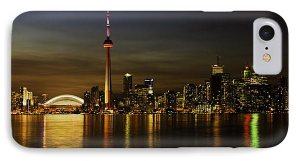Toronto Evening Sky Line Panorama IPhone Case by Peter v Quenter